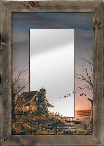 Sunrise Lake Cabin Mirror | The Cabin Shack