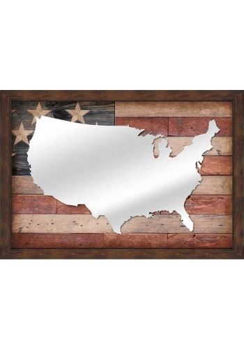 USA Flag Mirror | The Cabin Shack