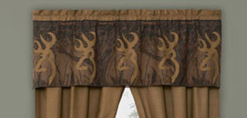 Cabin Decor - Browning Oak Tree Buckmark Valance - The Cabin Shack