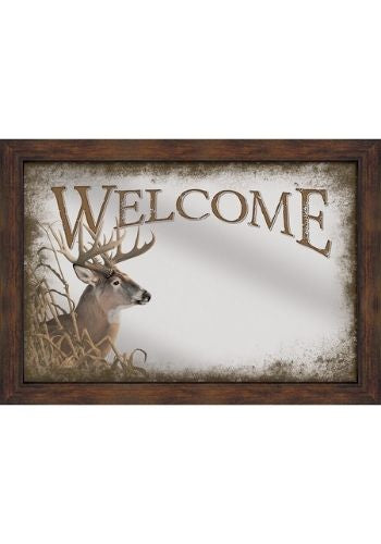 Welcome Whitetail Deer Mirror | The Cabin Shack