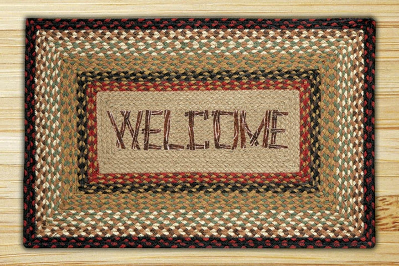 Cabin Rugs | Welcome Jute Rug | The Cabin Shack