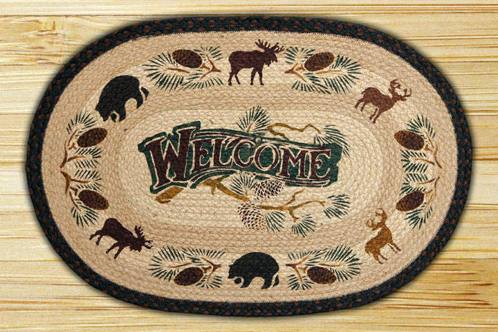 Welcome Lodge Licensed Print Rug - The Cabin Shack