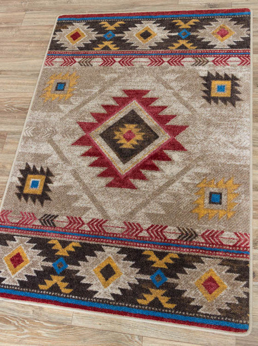 Winding River Tan Rug | The Cabin Shack