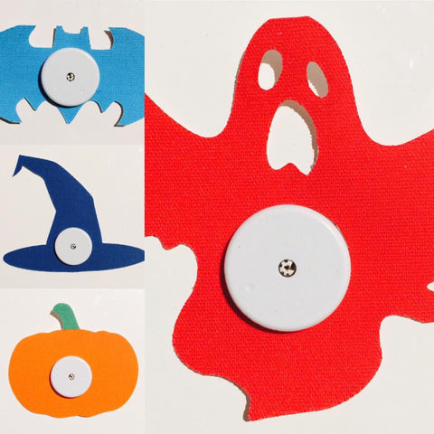 HALLOWEEN SHAPES includes Ghost, Pumpkin, Bat & Witches Hat to suit Libre