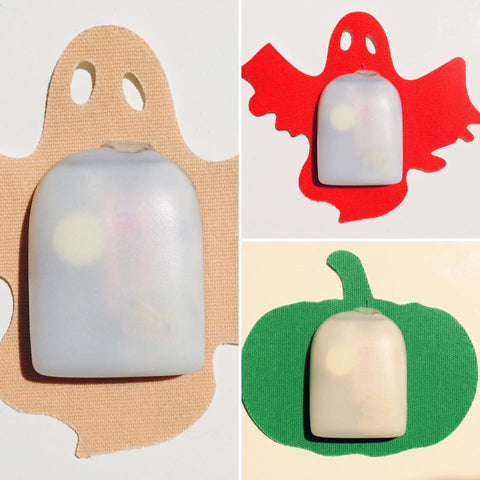 HALLOWEEN SHAPES includes Ghost & Pumpkin to suit OmniPod