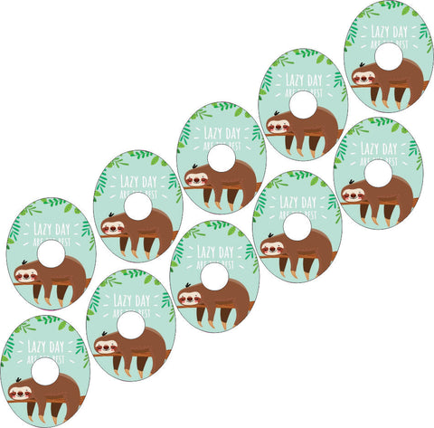 Freestyle Libre Lazy Sloth Design Patches 10 pack