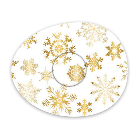 Christmas gold snowflakes adhesive patches - all devices.