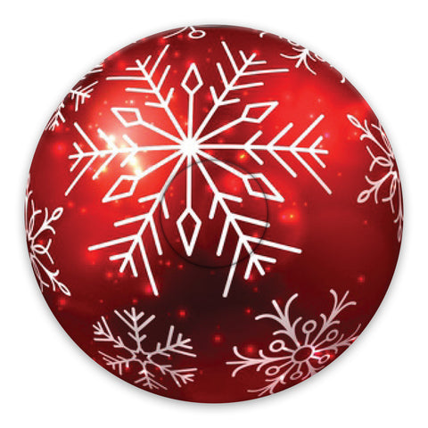 Christmas red bauble adhesive patches - all devices.