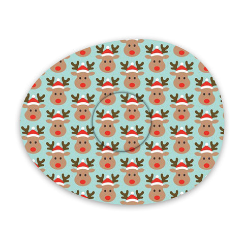 Christmas rudolph adhesive patches - all devices.