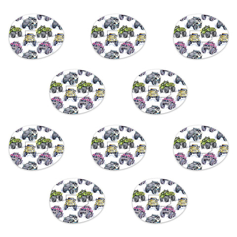 Dexcom Monster Truck Design Patches 10 pack