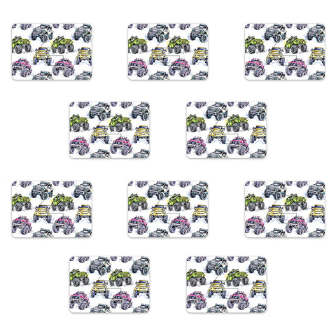 Medtronic Monster Truck Design Patches 10 pack