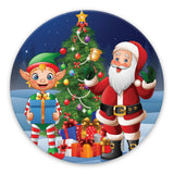 Christmas santa & elf adhesive patches - all devices.