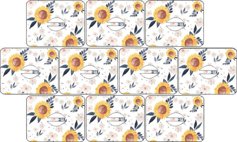Medtronic Sunflowers Design Patches 10 pack