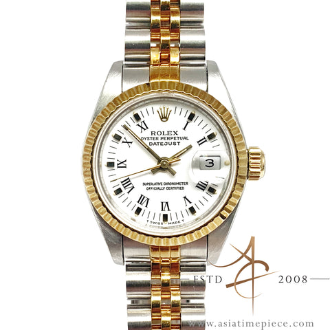 Rolex Ladies Datejust Ref 69173 Gold Steel Watch (Year 1991)