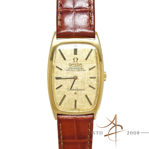 Omega Constellation Ref 153.029 18K Gold Chronometer Automatic Vintage Watch