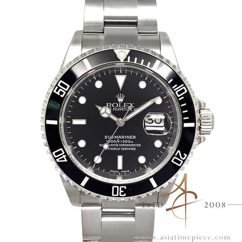 Rolex Submariner Date Black 16610 With Certificate (2002)