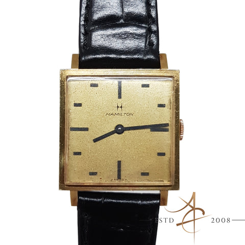 Hamilton 18K Yellow Gold Vintage Watch