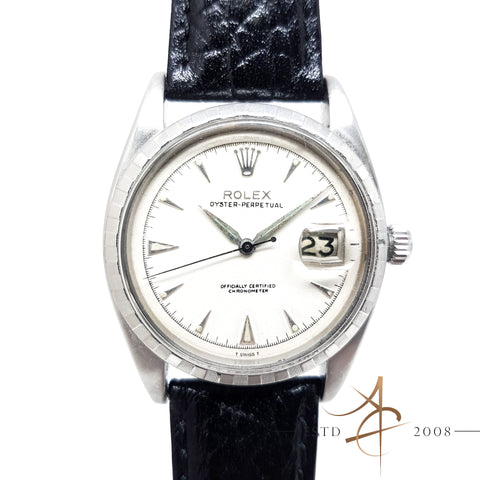 Rolex Oyster Perpetual Datejust Ref 6305-2 Ovettone Big Bubbleback (Year 1952) Vintage Watch