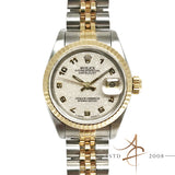 [Full Set] Rolex Ladies Datejust Ref 69173 Roman Computer Dial Gold Steel (1991)