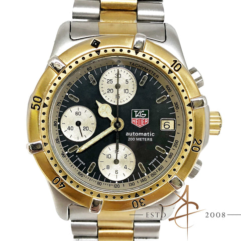 Tag Heuer Automatic Chronograph 200m Ref: 765.406 Gold Steel Watch