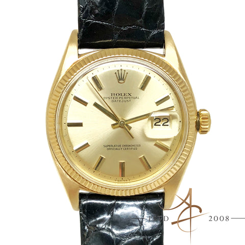 (Unavailable) Rolex Vintage Oyster Perpetual Datejust Ref 6605 18K Gold (Year 1946)