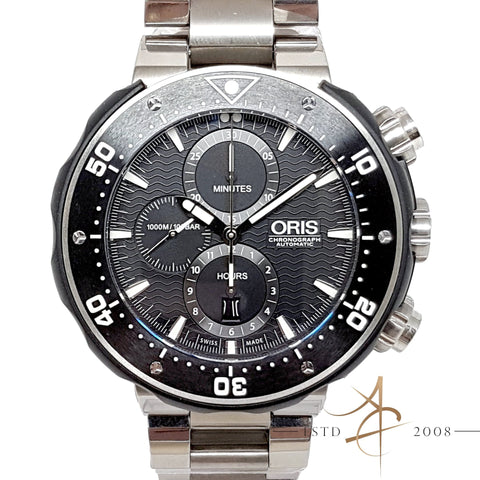 [Full Set] Oris Men's ProDiver 1000M Titanium Automatic Chronograph Watch