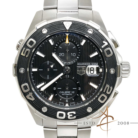 Tag Heuer Aquaracer 500m Ref CAJ2110 Chronograph Automatic Black Steel Watch
