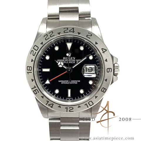 Rolex Explorer II 16570 Black Swiss Only Dial (Year 1999)