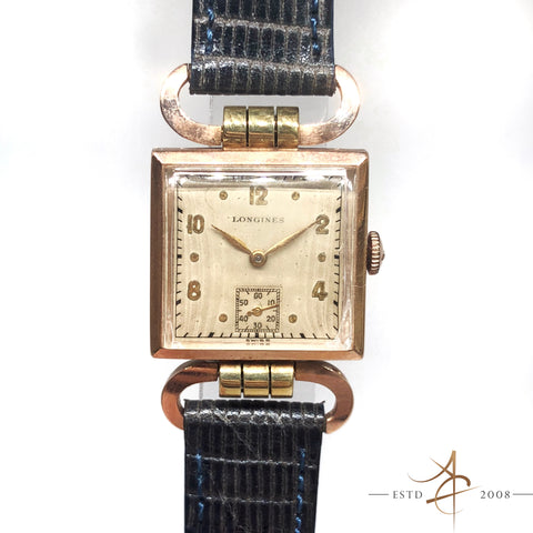 Longines 14k Rose Gold Hand Winding Vintage Watch