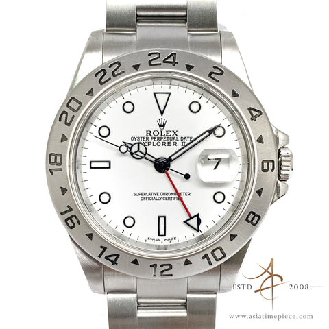 Rolex Explorer II Ref 16570 White Polar Automatic Steel Watch without Pinhole (2004)