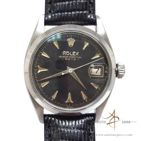 Rare Rolex Date World War 2 Vintage Watch 6535 with Sharkteeth Markers (1945)