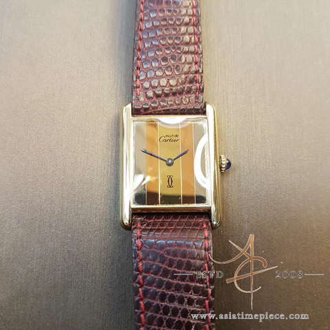 Cartier Tank must de Paris Silver Lady Vintage Watch