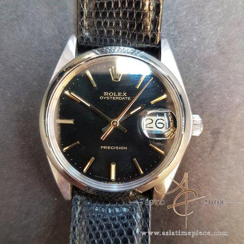Vintage Rolex 6694 Black from 1971 with Complete Service Overhaul by Rolex