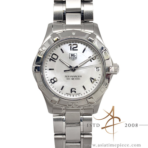 Tag Heuer Mother of Pearl Aquaracer Midsize Quartz Watch WAF1311