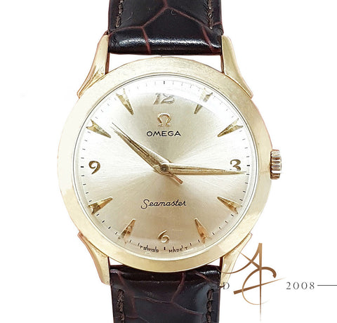 Omega Vintage Seamaster Gold Plated Winding Watch