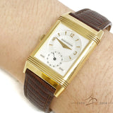 Jeager LeCoultre 18K Reverso Duoface Day Night Ref 270154