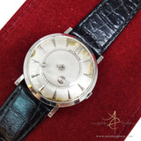 Rare Lecoultre Mystery White Gold Vintage Watch