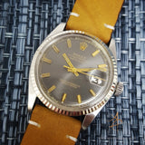 RARE Grey Rolex Wide Boy Dial Ref 1601 Vintage Watch (Year 1970)