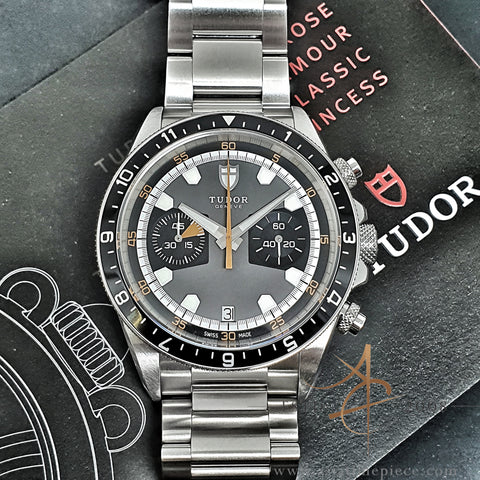 Tudor Heritage Chrono Monte Carlo Grey 70330N Full Set Mint (2019)