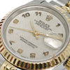 Rolex Ladies Datejust Ref 69173 Roman Computer Dial Gold Steel