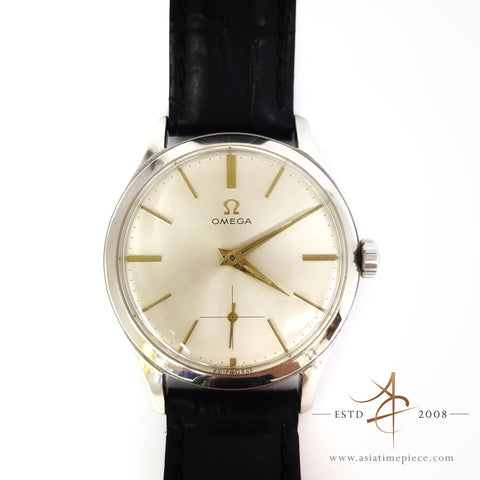 Omega Subhand Ivory Dial Winding Vintage Watch