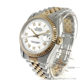 Rolex Midsize Datejust 68273 White Roman Dial Vintage Watch (Year 1984)