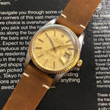 Rolex Datejust 16013 Champagne Linen Dial Watch (1981)