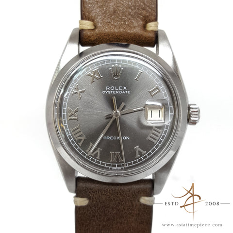 Rolex 6694 Custom Grey Dial Vintage Watch (Year 1977)