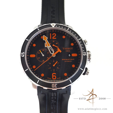 Orange Tissot Seastar T066427 Automatic Chronograph Watch