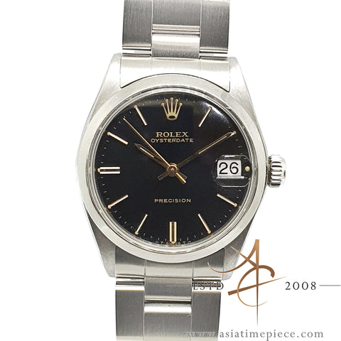 Rolex Oysterdate Precision 6466 Black Dial Vintage Watch (1962)