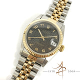 Rolex Oyster Perpetual Datejust Ref 68273 Monogram Dial Gold Steel Watch (Year 1991)