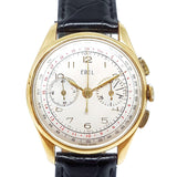 Ebel Vintage Chronograph 18K Solid Gold Winding Watch