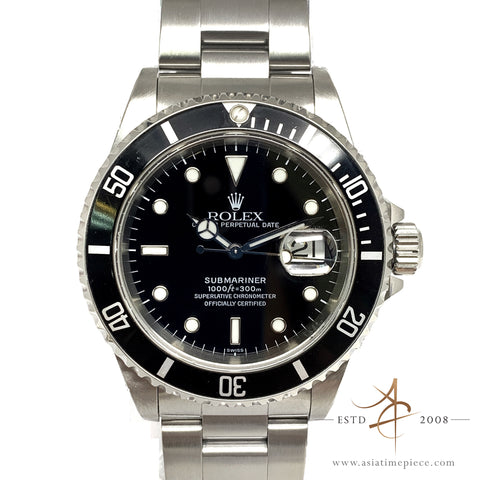 [Rare] Rolex Submariner Date 16610 Black Swiss Only Transitional Dial (1999)