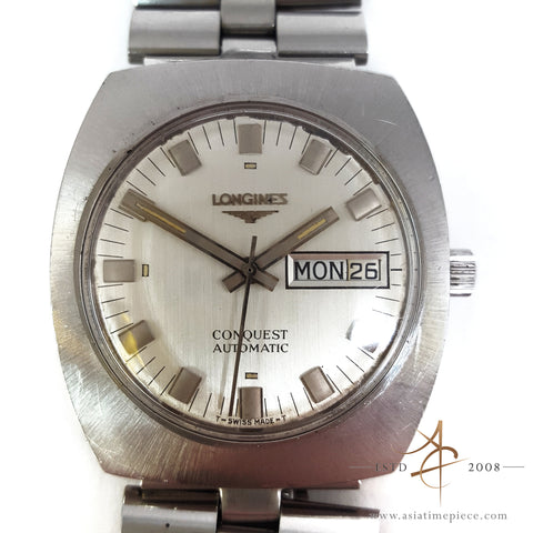 Longines Conquest Day-Date Automatic Swiss Vintage Watch